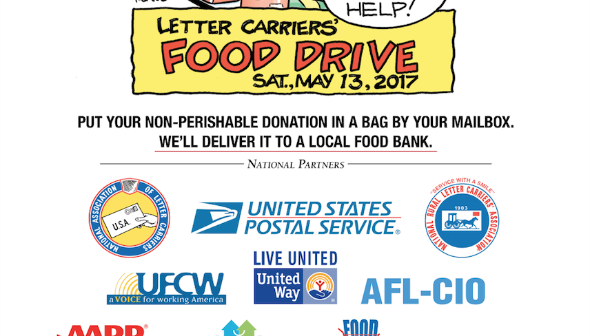 Ufcw helps collect thousands of pounds of food for 25th Why do we put stamps on letters